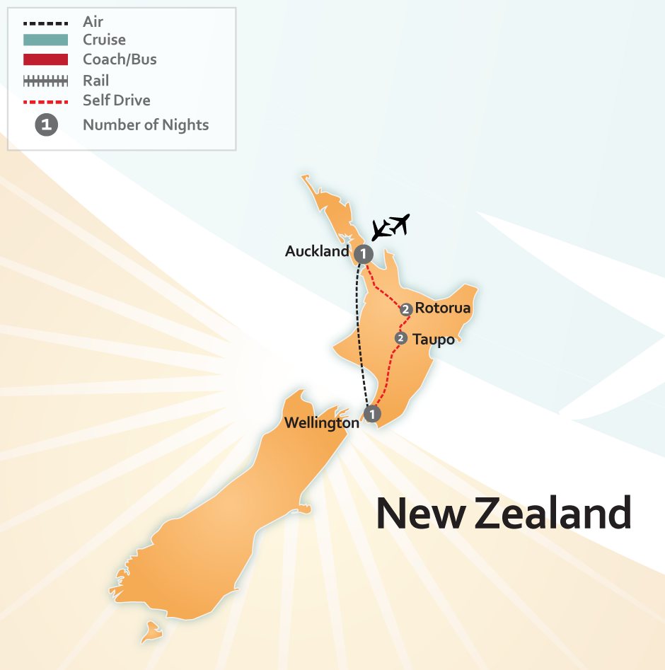 New Zealand North Island Road Map.North Island New Zealand Road Trip Save 25 About New Zealand