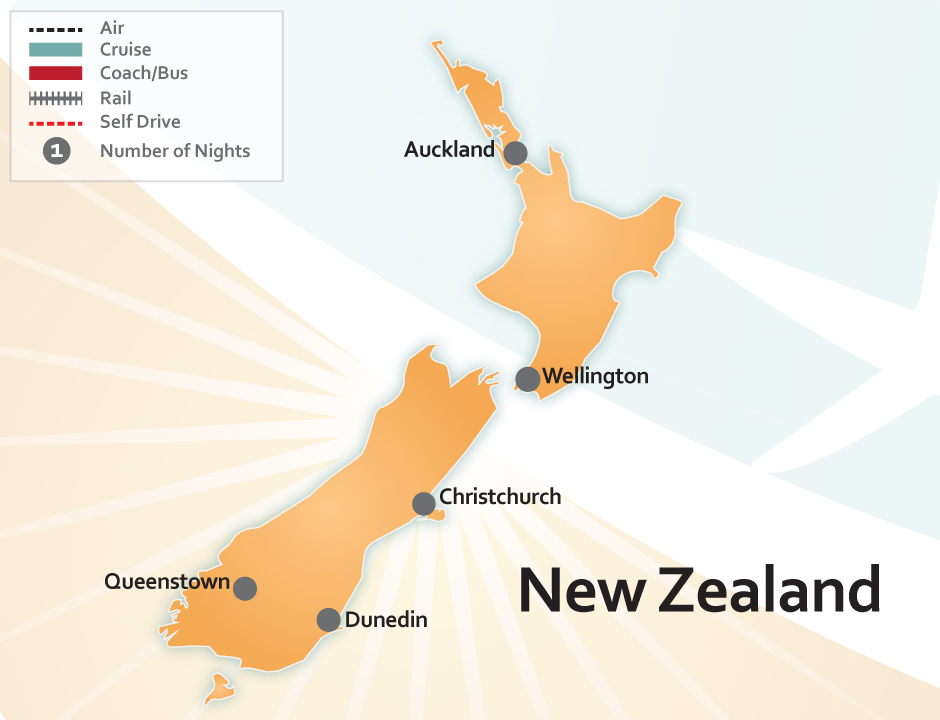 New Zealand International Airport Map