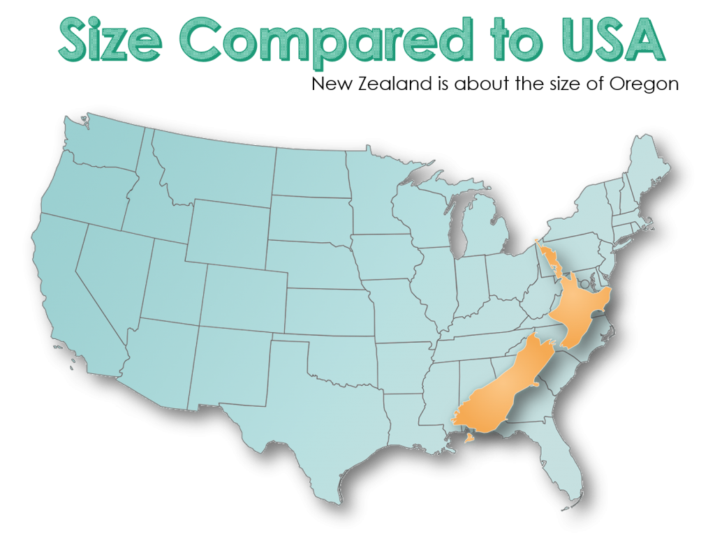 New Zealand Size Comparison US