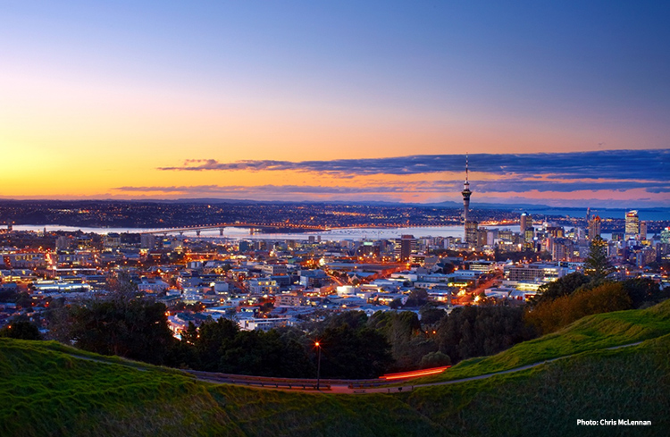 Evening view of Auckland city from Kingsland credit Chris McLennan