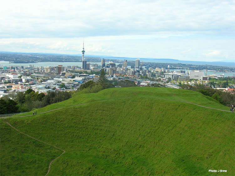 Mount Eden crater and view credit J Brew