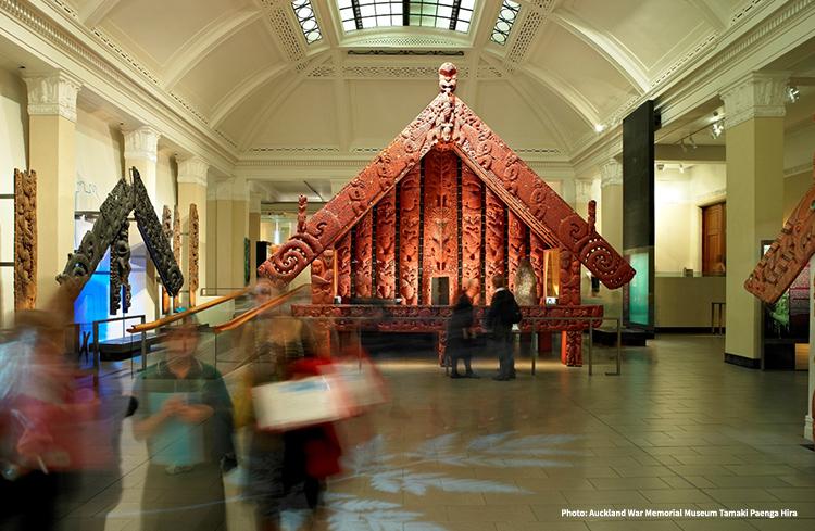 Pataka Maori Court credit Auckland War Memorial Museum Tamaki Paenga Hira