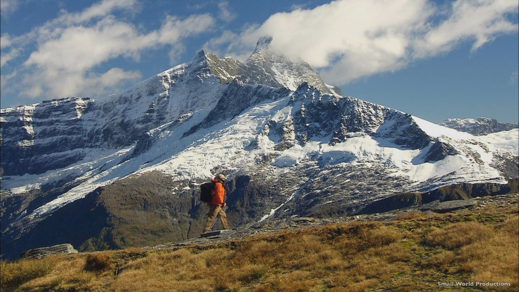 Man Hiking in Mount Aspiring Lake Wanaka