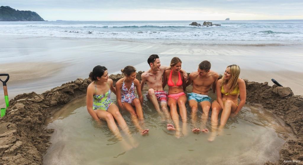 Hot Water Beach Coromandel Peninsula New Zealand Volcanoes