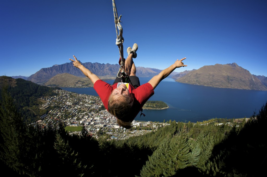 Sky Swing in Queenstown