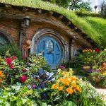 Blue Hobbit Hole door in Hobbiton