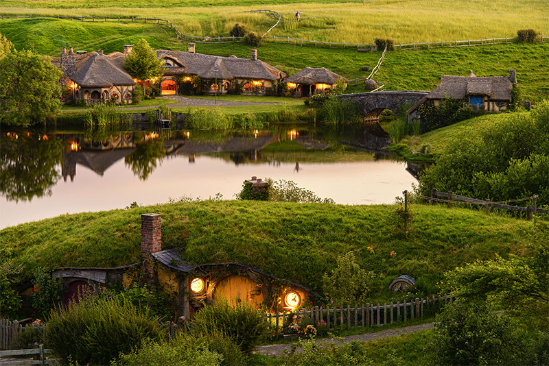 Shire by Dusk at Hobbiton Evening Banquet Tour