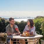 Couple drinking wine in Waiheke Island Winery