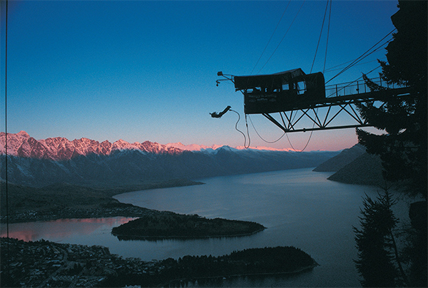 The Ledge Bungy, Queenstown credit AJ Hackett Bungy New Zealand Travel Deal