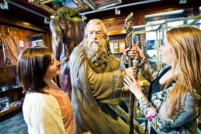 Gandalf at the Weta Cave credit WellingtonNZ