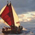 Waka sailing on Waitemata Harbour credit Waka Quest