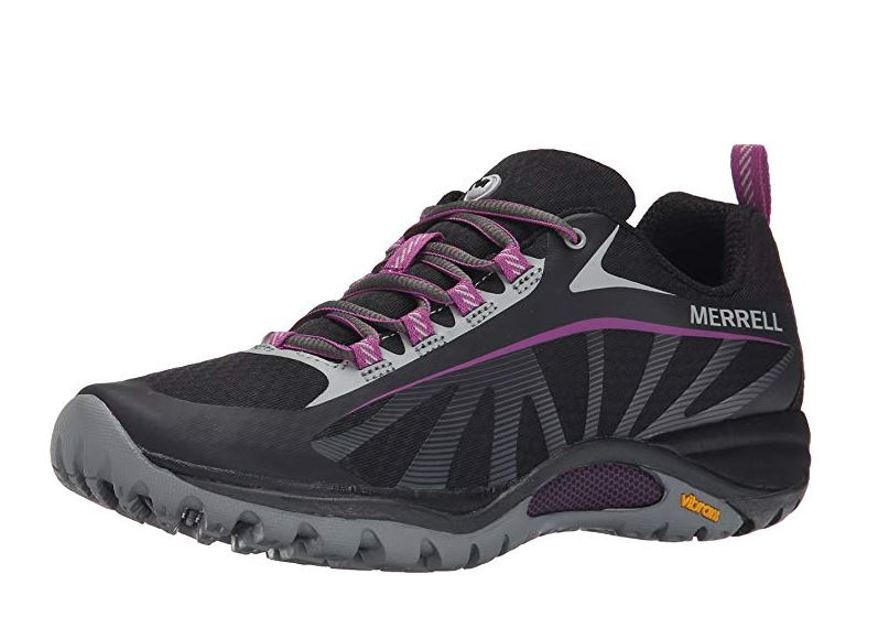 Black and Purple Hiking Shoes