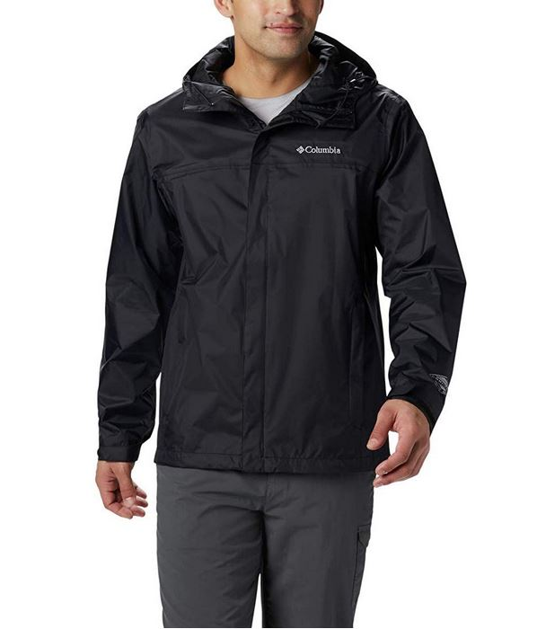 Black Men's Rain Jacket