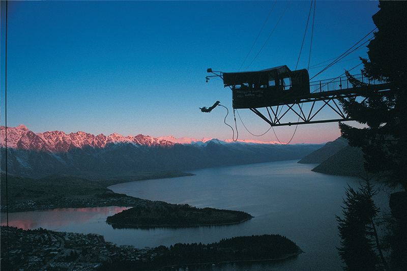 The Ledge Bungy, Queenstown credit AJ Hackett Bungy